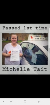 A BIG CONGRATULATIONS TO MICHELLE WHO PASSED HER TEST FIRST ATTEMPT <br />
