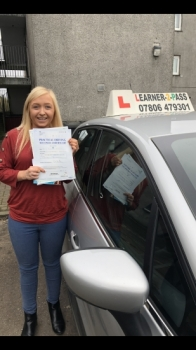 A BIG HUGE CONGRATULATIONS TO HOLLY WHO PASSED HER DRIVING TEST TODAY 1/04/2019